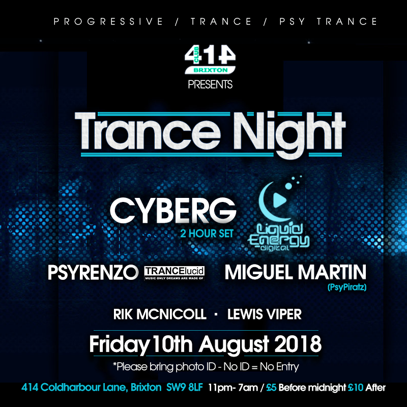 Trance Night @ Club414, Brixton