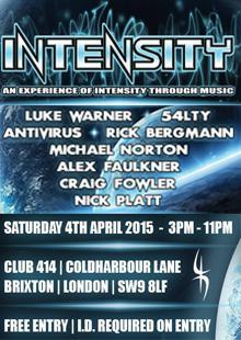 Intensity @ Club 414, Brixton